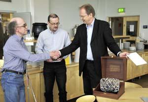 Arne Moström, Lars-Göran Vanhainen och Lars Eliasson, 2009-03-27 (Bild: IRF)