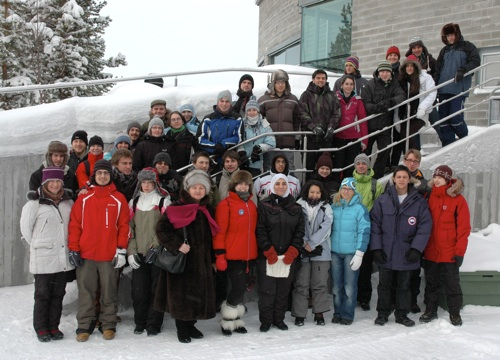 Participants in the Arctic Science winter course at the Space Campus in Kiruna, February 2011. Photo: Rick McGregor, IRF