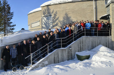 SRS meeting 2013 group photo - at the Space Campus in Kiruna. (Photo: Rick McGregor, IRF)