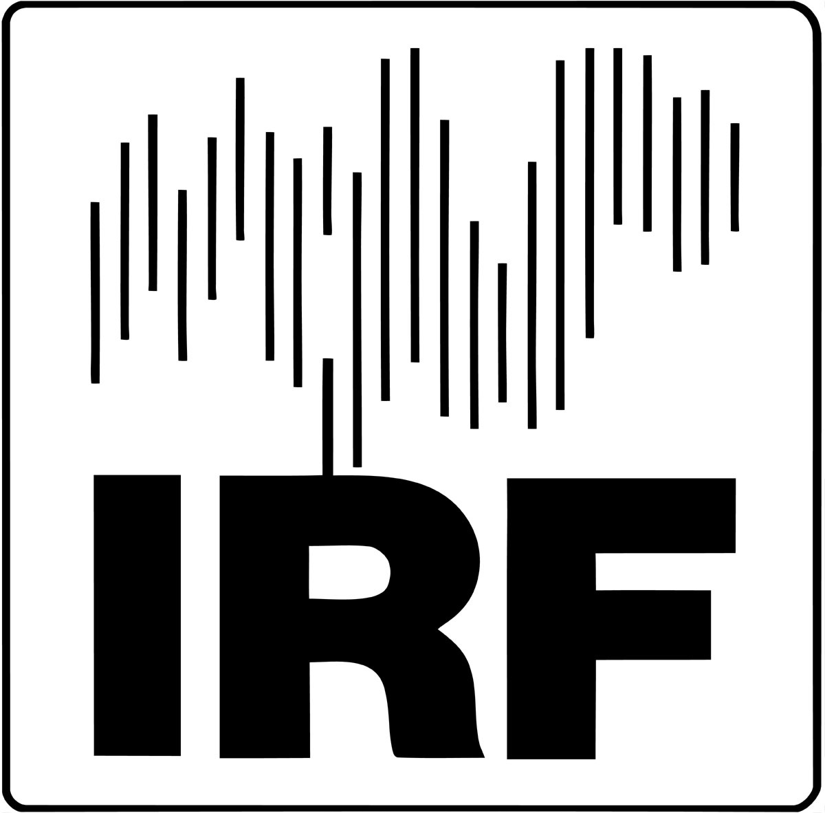 IRF logo black on white