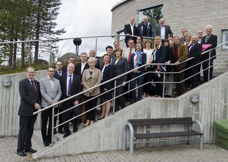 Rymdminister på besök på Rymdcampus, juni 2015 (foto: Rick McGregor, IRF)