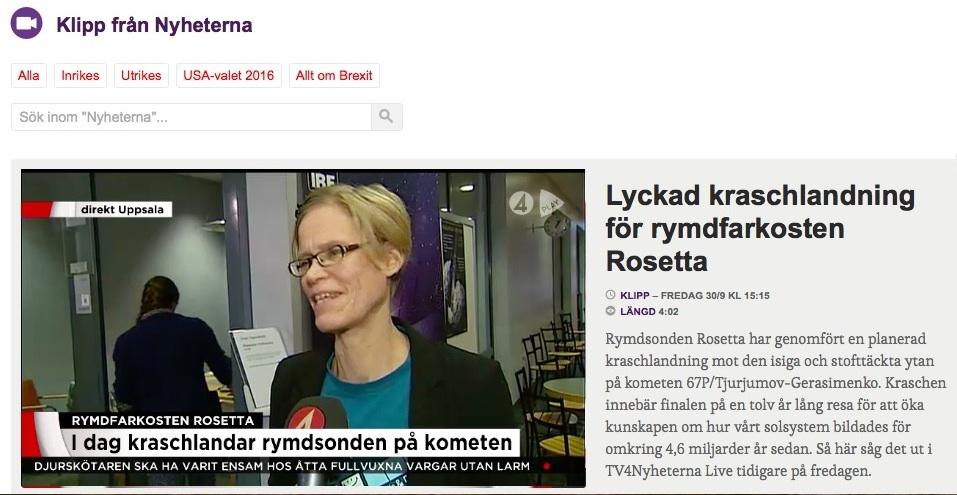 Gabriella Stenberg Wieser i TV4 Nyheterna.