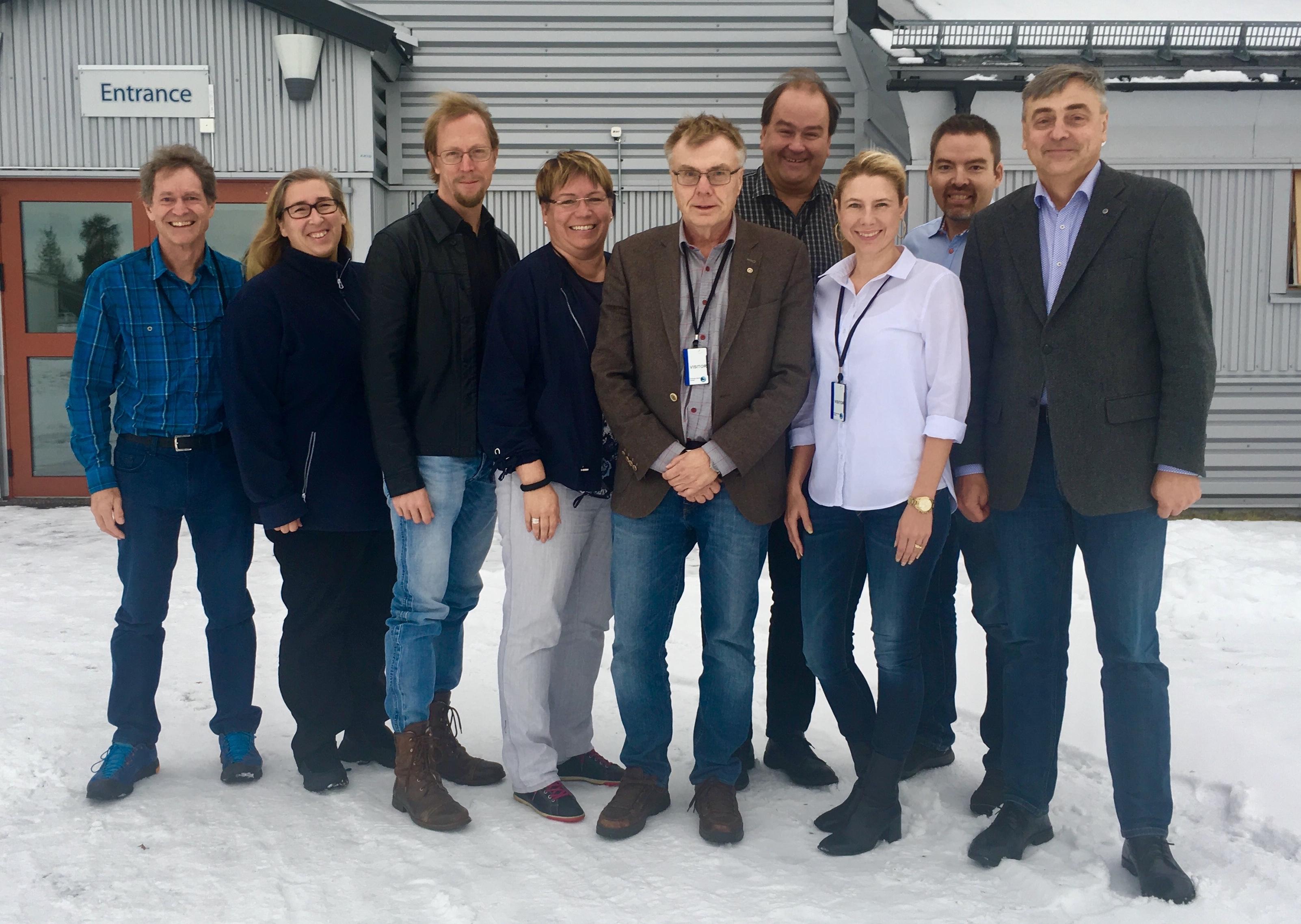 IRF's executive, from left: Rick McGregor, Ella Carlsson Sjöberg, Hans Nilsson, Anna-Karin Ukonsaari, Mats André, Urban Brändström, Cecilia Flemström, Johan Kero, Stas Barabash. (Photo: Maria Wästle, IRF)
