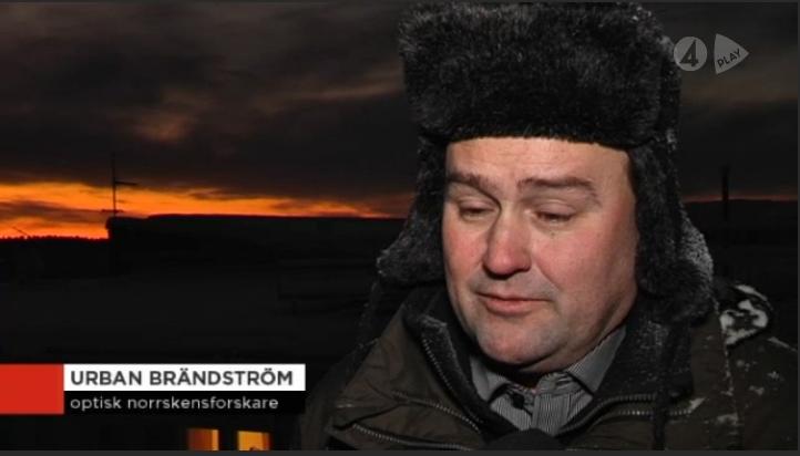 Urban Brändström intervjuas av TV4