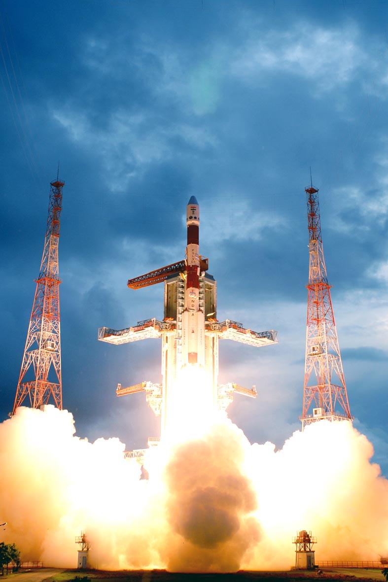 Chandrayaan-1 launch, 22 October 2008 (photo: ISRO)
