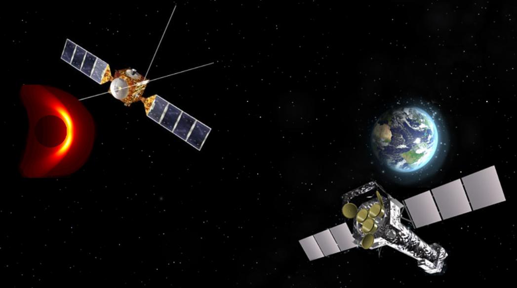 Mars Express och XMM-Newton. Bild: ESA och IRF