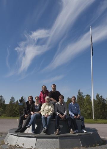 Meteoritexpeditionen, gruppbild med prof. Asta Pellinen-Wannberg i mitten (foto: IRF)