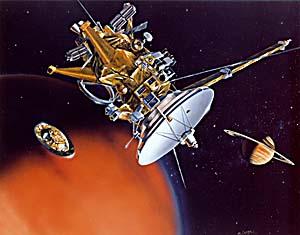 Huygens Cassini Titan och Saturnus