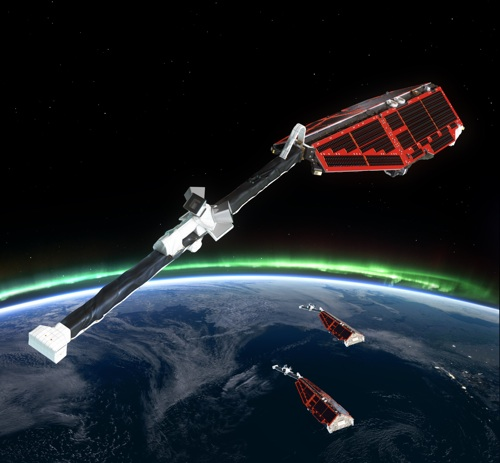 Swarm satellites (Picture: ESA/AOES Medialab)